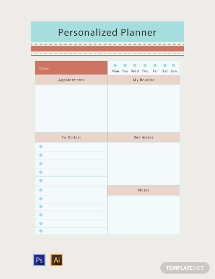 personalized planner1