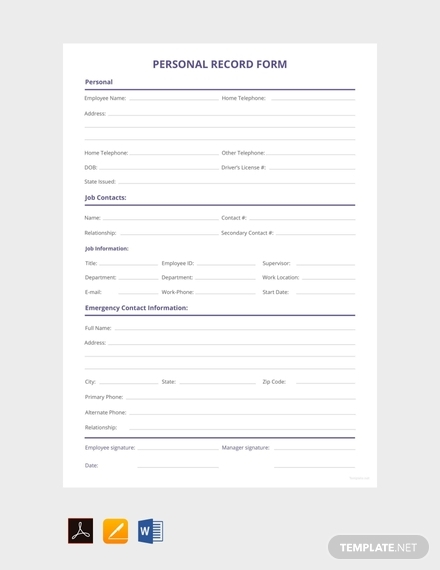 personnel record form1