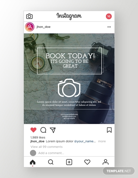 photography instagram ad
