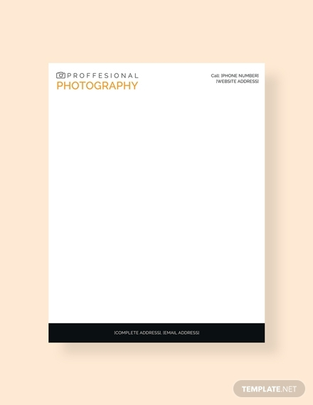 photography letterhead