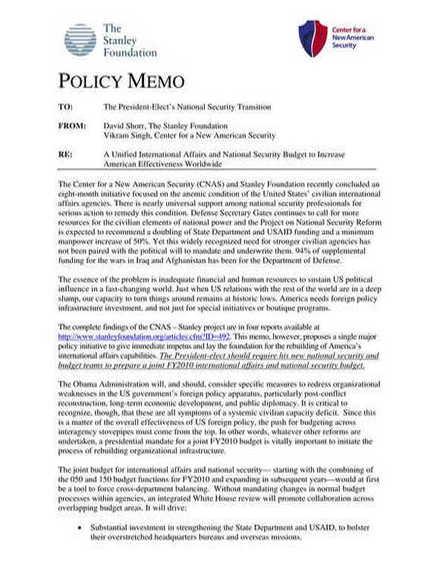 policy memo