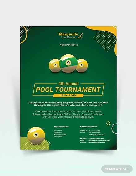 pool tournament flyer