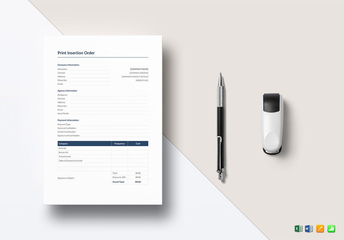 print insertion order1