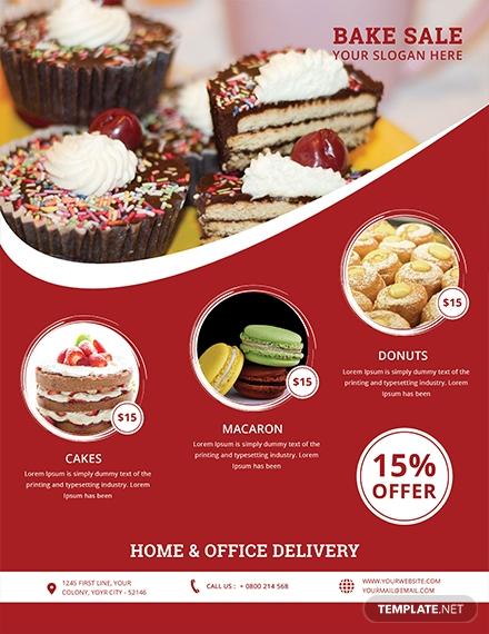 printable bake sale flyer