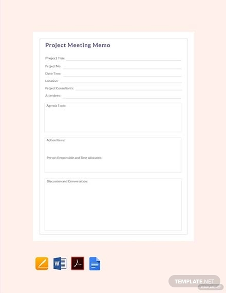 project meeting memo2