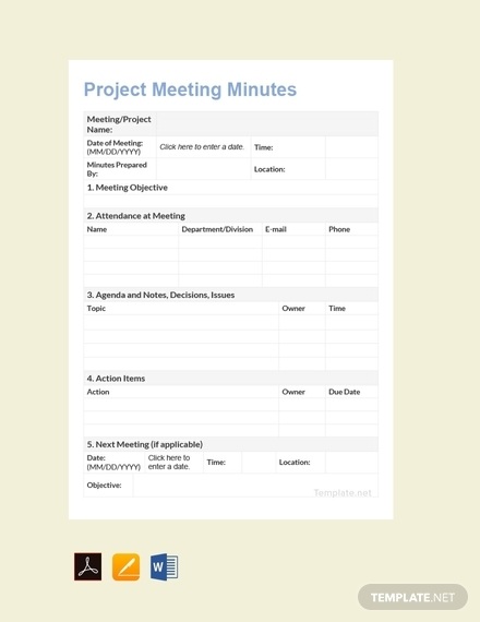 project meeting minutes1