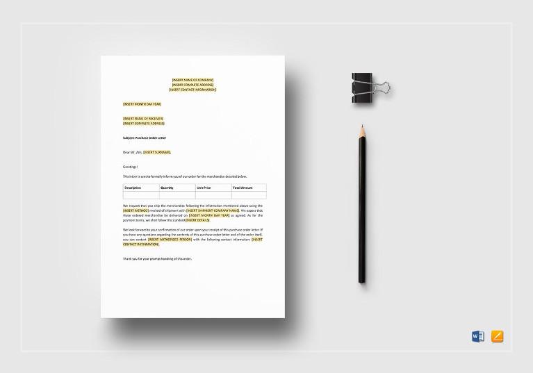 purchase order letter1