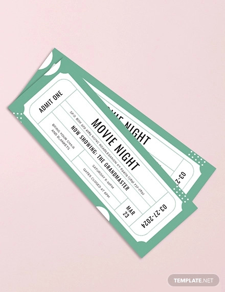raffle movie ticket design1