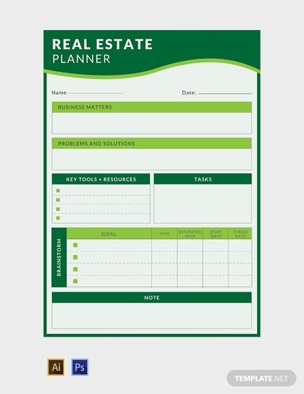 real estate business planner