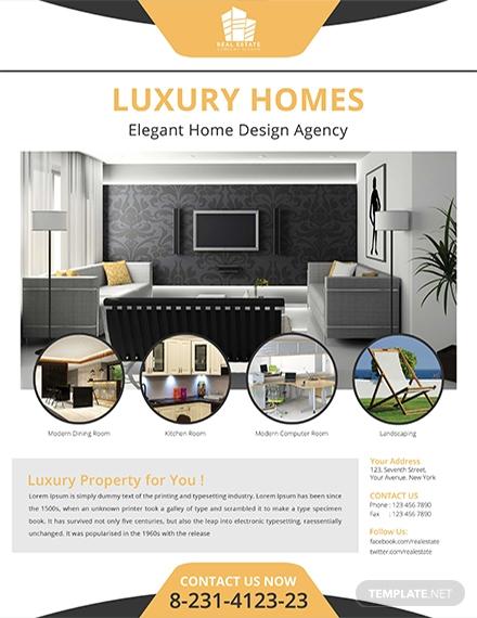 real estate home flyer