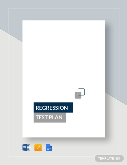 regression test plan design