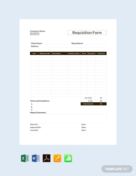 requisition form template1