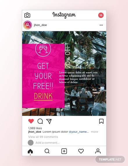 restaurant instagram ad