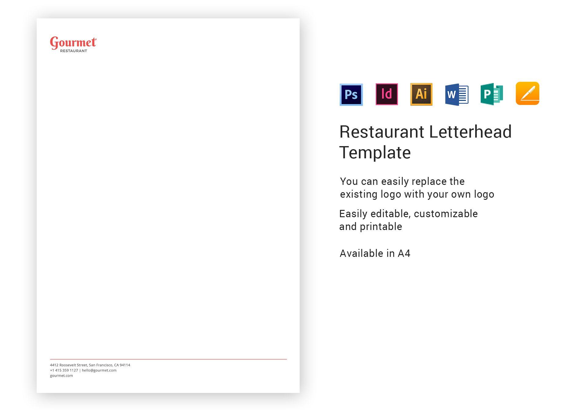 restaurant letterhead template