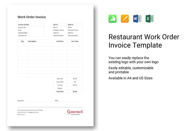restaurant work orde