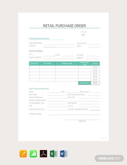 retail purchase order1