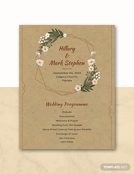 rustic wedding program1