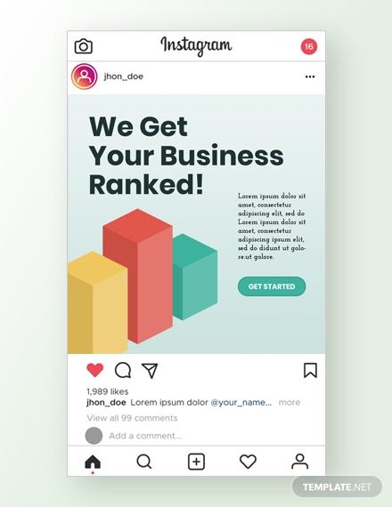 seo company instagram ad