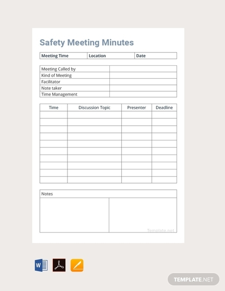 safety meeting minutes