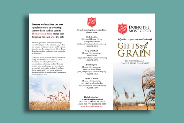 salvation army charity brochure