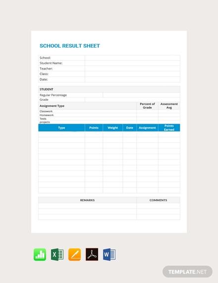 school result grade sheet1