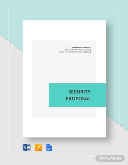 11+ Security Proposal Examples - Word, PDF, Pages | Examples