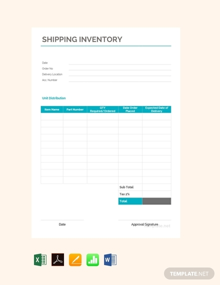 shipping inventory