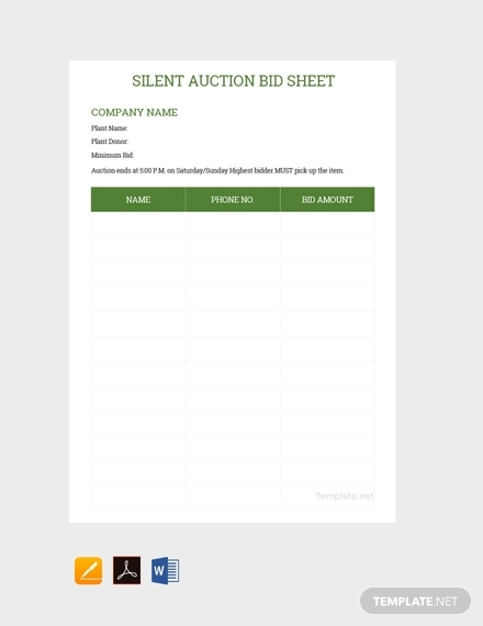 silent auction bid sheet2