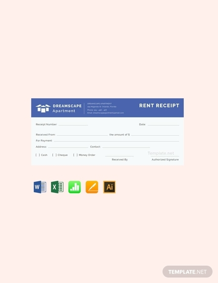 simple apartment rent receipt template
