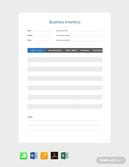 simple business inventory