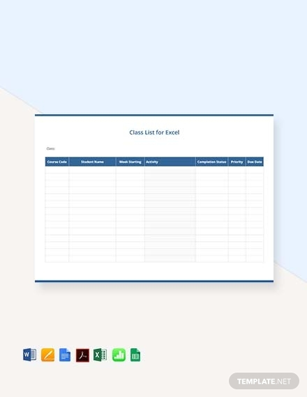 simple class list