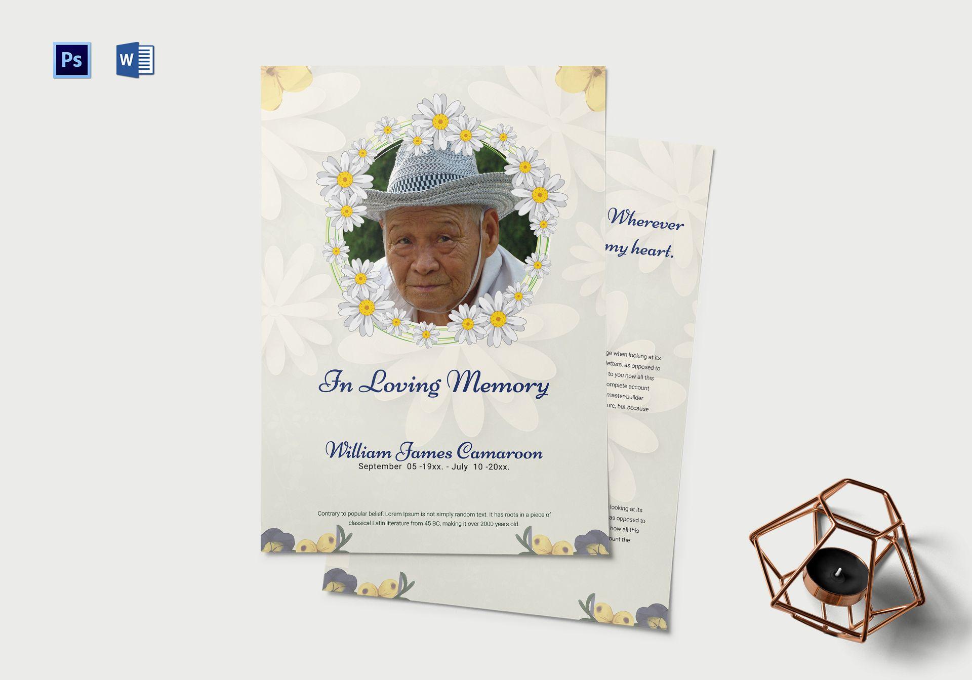 simple funeral memorial program