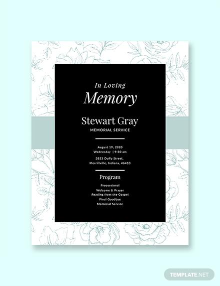 simple memorial program