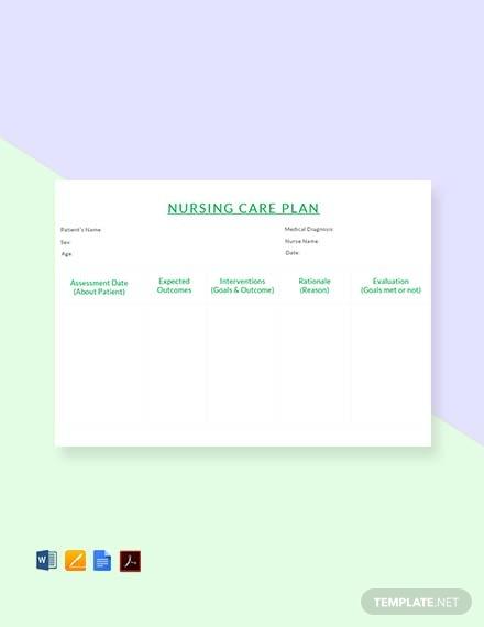 simple nursing care plan