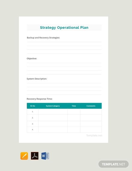 simple operational plan template