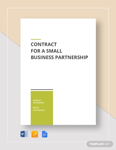 small business partnership contract