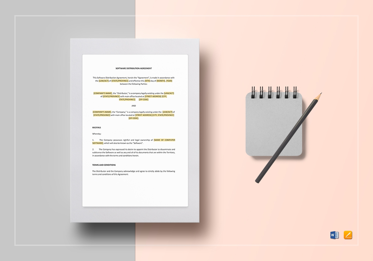 software distribution agreement form