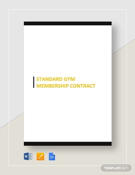 standard gym membership contract