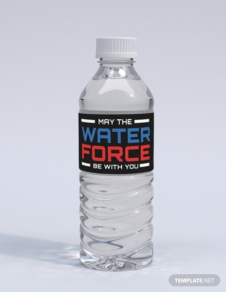 star wars water bottle label
