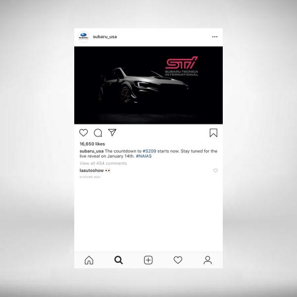 subaru instagram ad