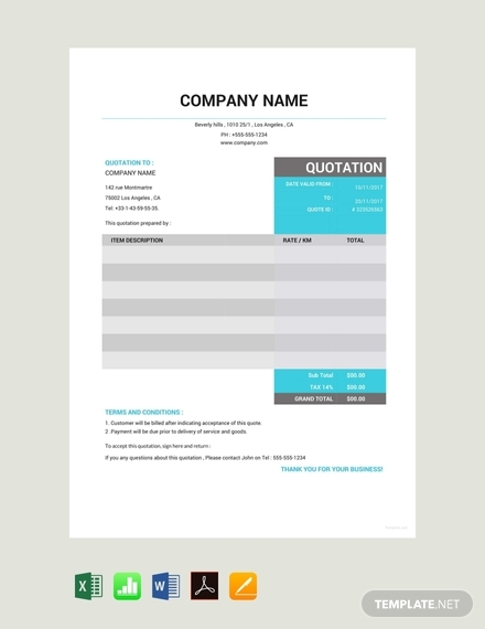taxi quotation