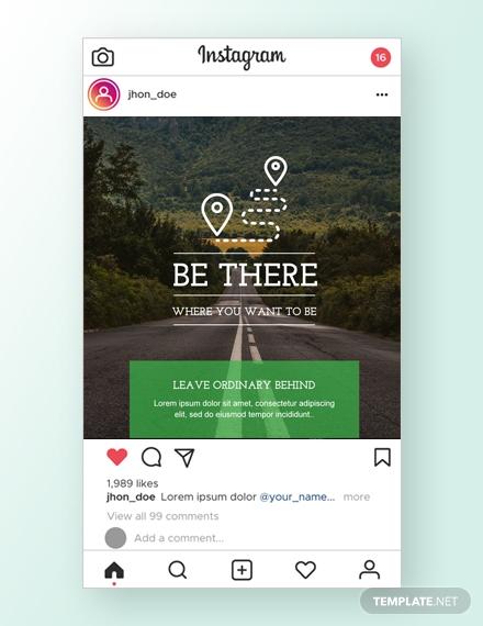 travel instagram ad