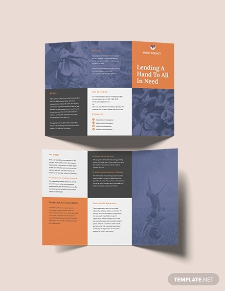 trifold fundraising brochure