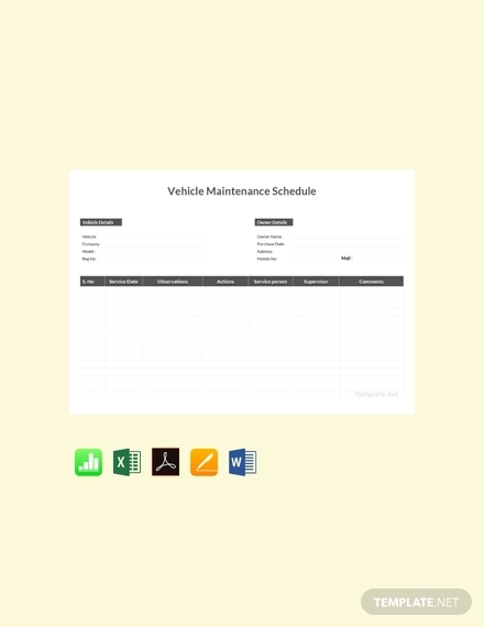 vehicle maintenance schedule
