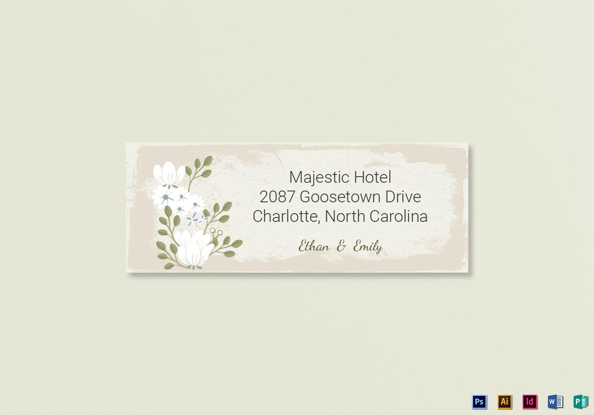vintage wedding address labels card1