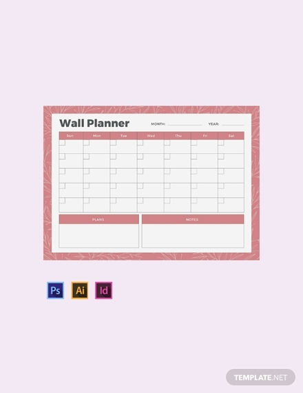 wall planner template