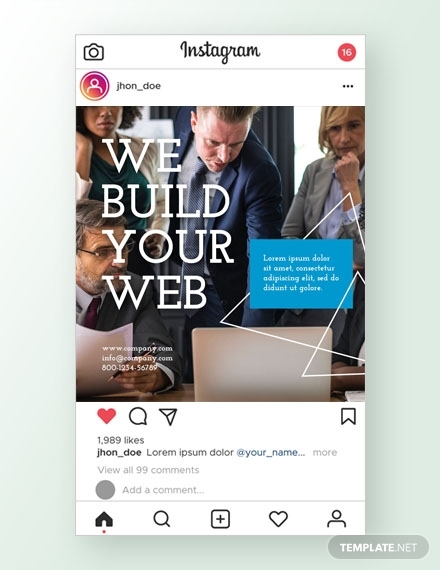 web design instagram ad