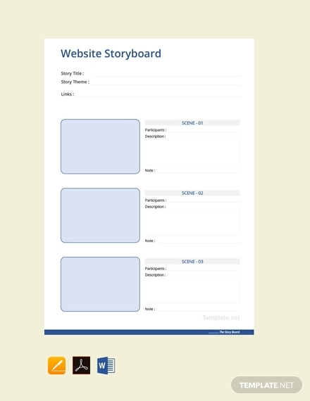website storyboard outline