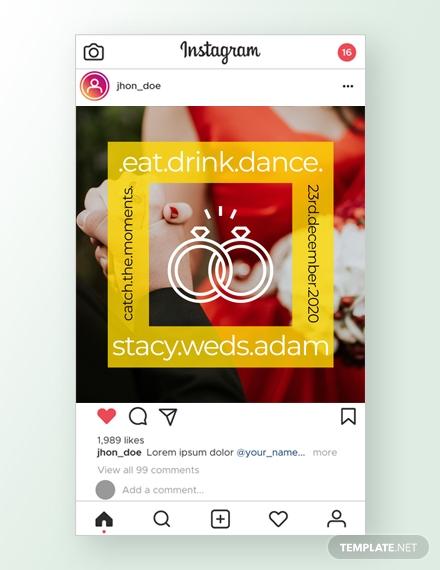 wedding instagram ad