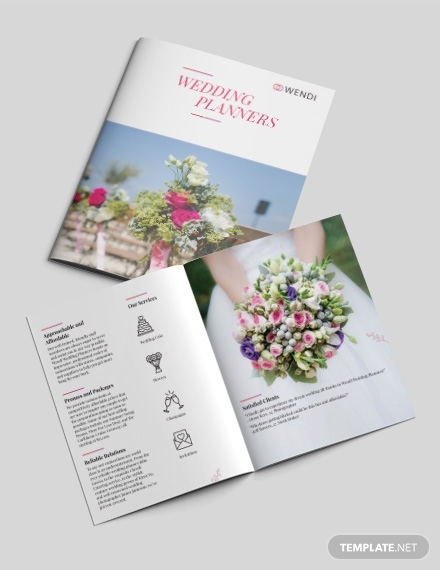 wedding planners bi fold brochure